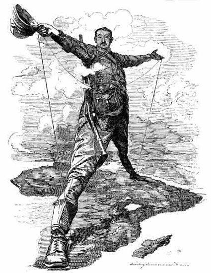 Cecil Rhodes bestrides Africa