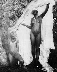 Herero woman posing naked